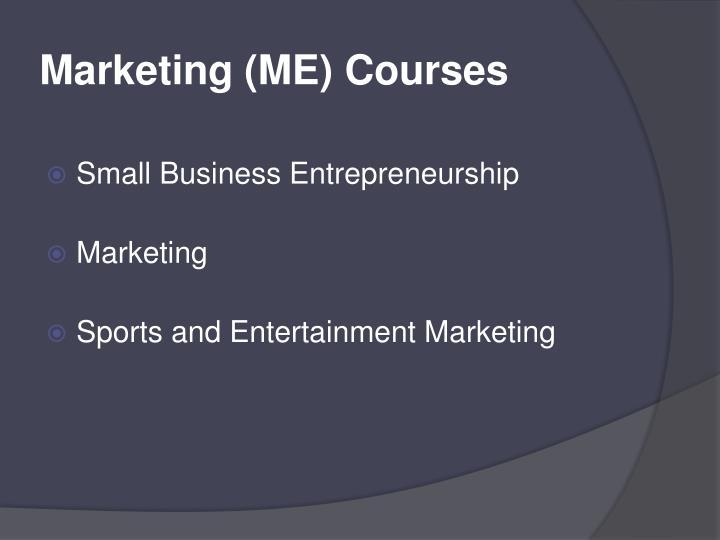 Marketing (ME) Courses