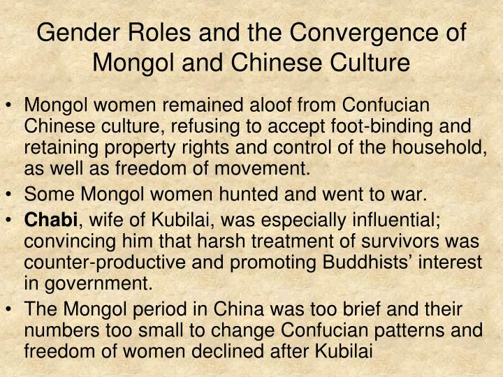 Gender Roles and the Convergence of Mongol and Chinese Culture