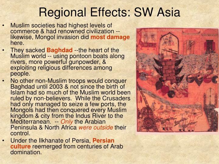 Regional Effects: SW Asia
