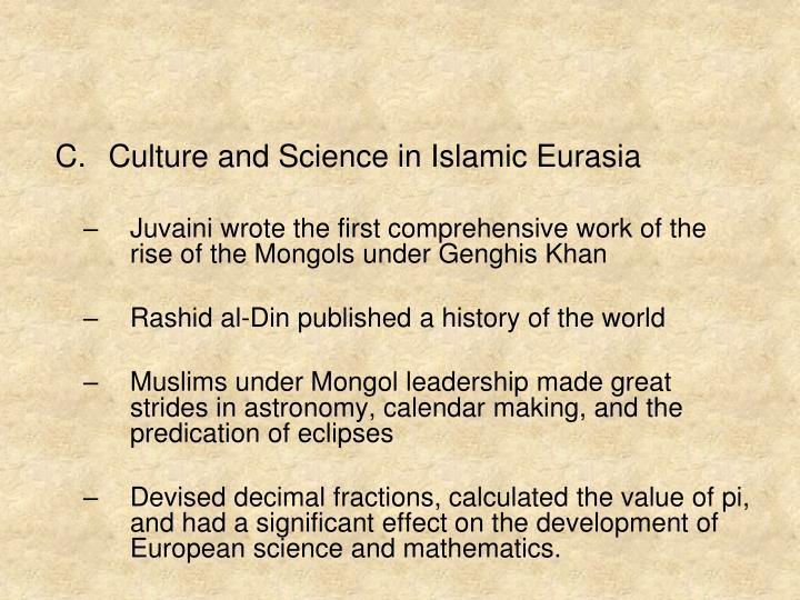 Culture and Science in Islamic Eurasia