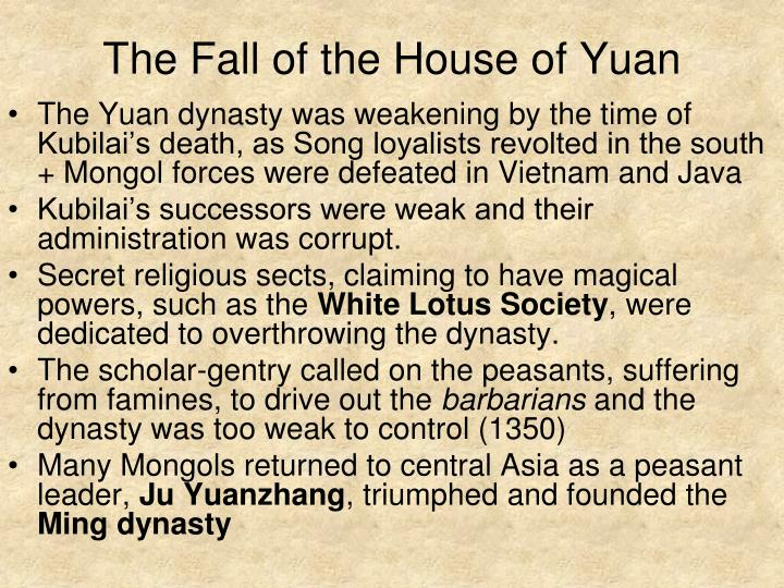 The Fall of the House of Yuan