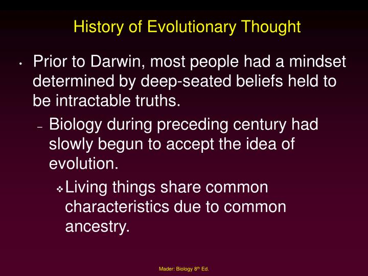 History of evolutionary thought
