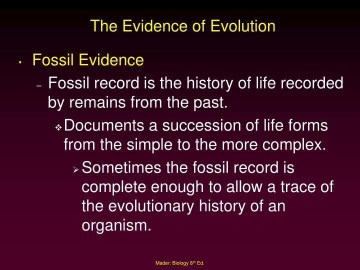 The Evidence of Evolution