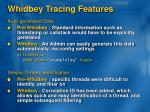 whidbey tracing features1