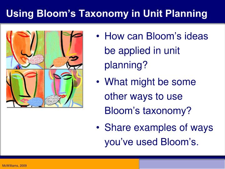 Using Bloom's Taxonomy in Unit Planning