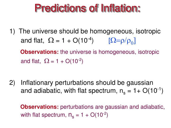 Predictions of Inflation: