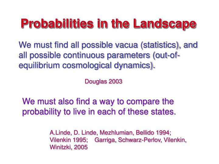 Probabilities in the Landscape