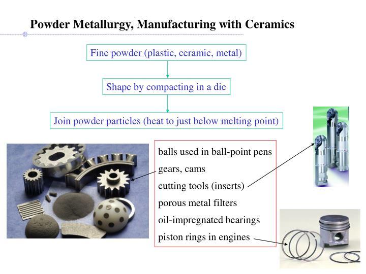 Powder Metallurgy, Manufacturing with Ceramics