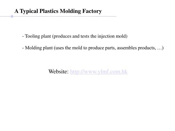 A Typical Plastics Molding Factory