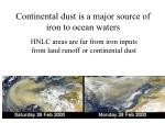 continental dust is a major source of iron to ocean waters