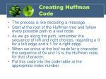 creating huffman code