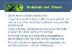 unbalanced trees