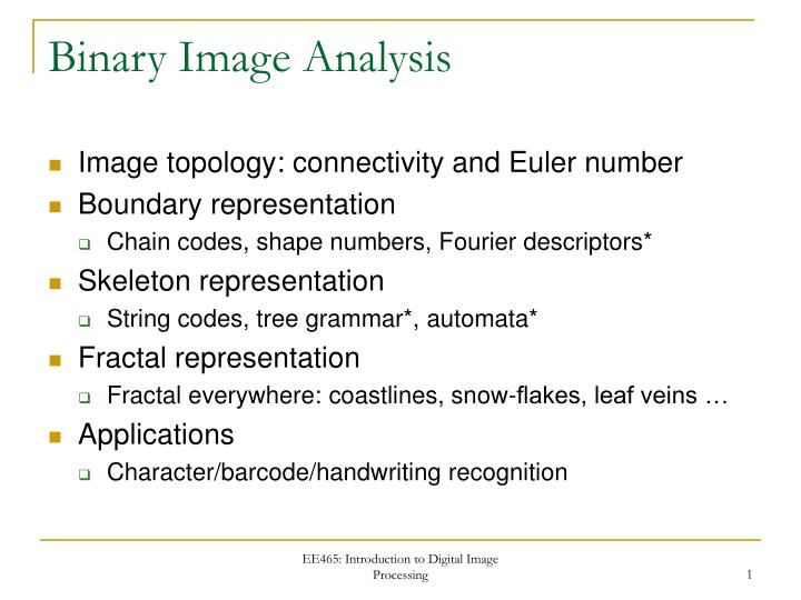 binary image analysis n.