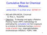 cumulative risk for chemical mixtures