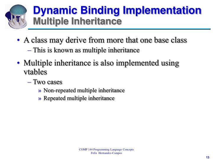 Dynamic Binding Implementation