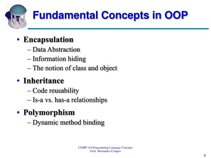 Fundamental concepts in oop