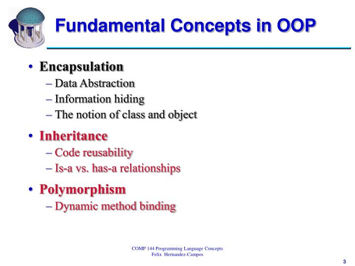 Fundamental concepts in oop1