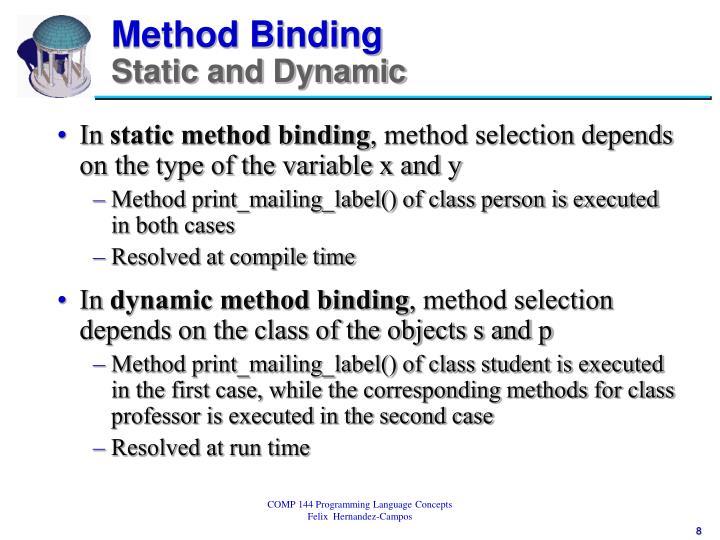 Method Binding