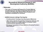 biomedical advanced research and development authority barda2