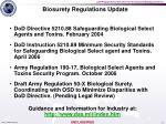 biosurety regulations update