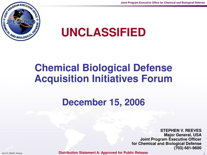 chemical biological defense acquisition initiatives forum n.