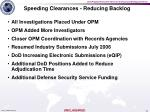 speeding clearances reducing backlog