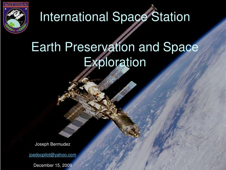 international space station earth preservation and space exploration n.