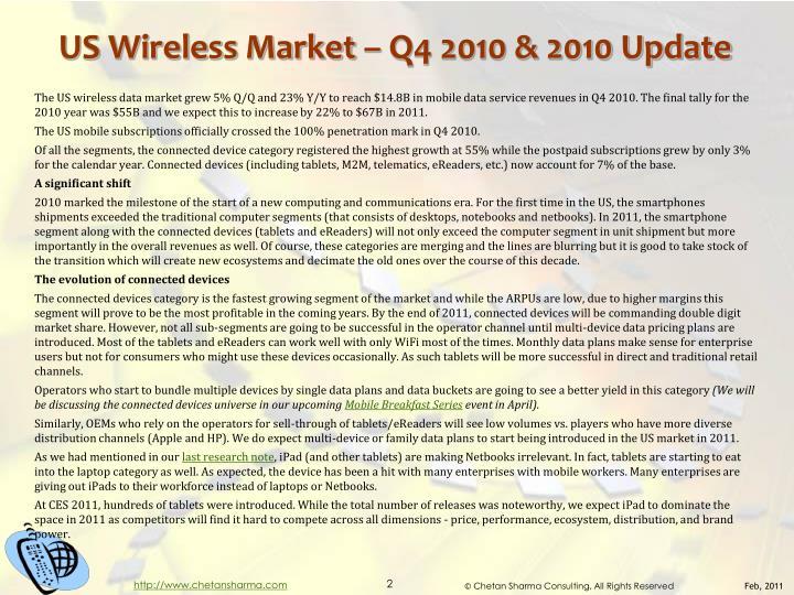 Us wireless market q4 2010 2010 update