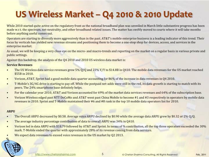 US Wireless Market – Q4 2010 & 2010 Update