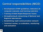 central responsibilities nicd