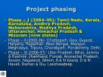 project phasing