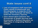 state issues cont d