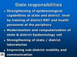 state responsibilities
