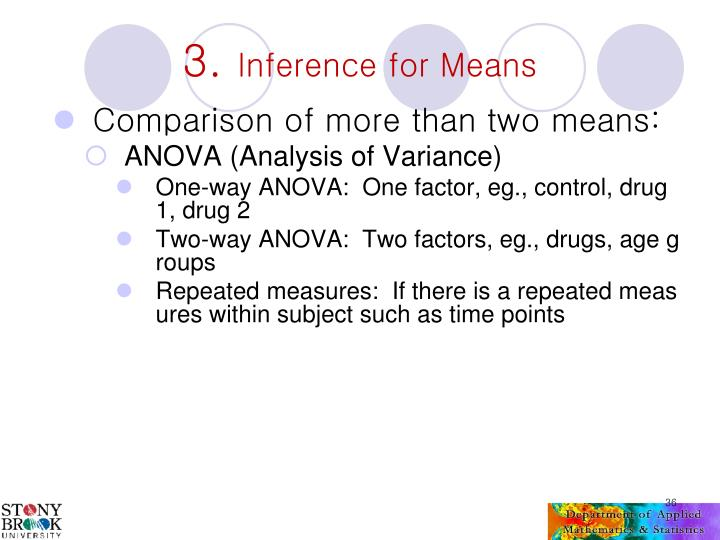Comparison of more than two means:
