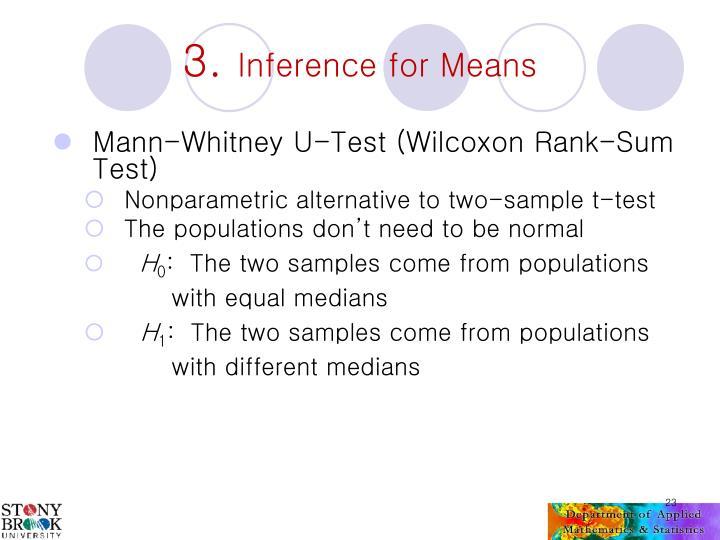 Mann-Whitney U-Test (Wilcoxon Rank-Sum Test)