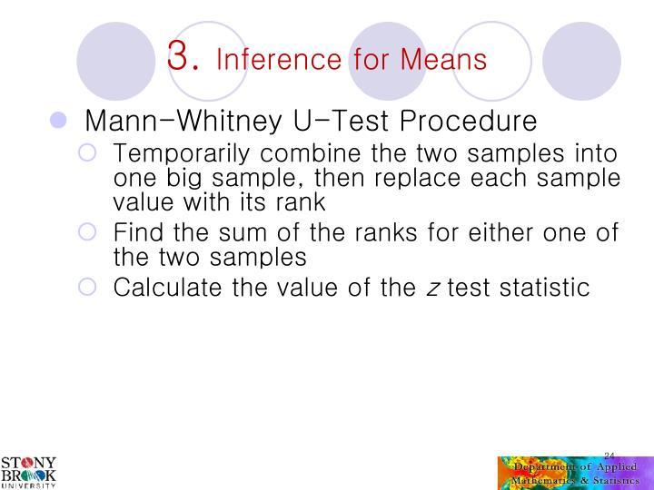 Mann-Whitney U-Test Procedure