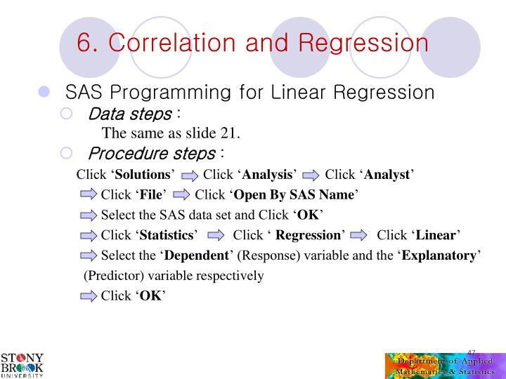 SAS Programming for Linear Regression