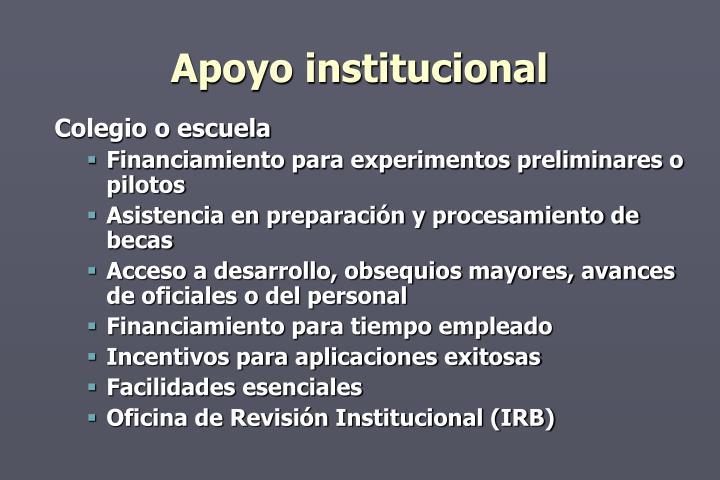 Apoyo institucional