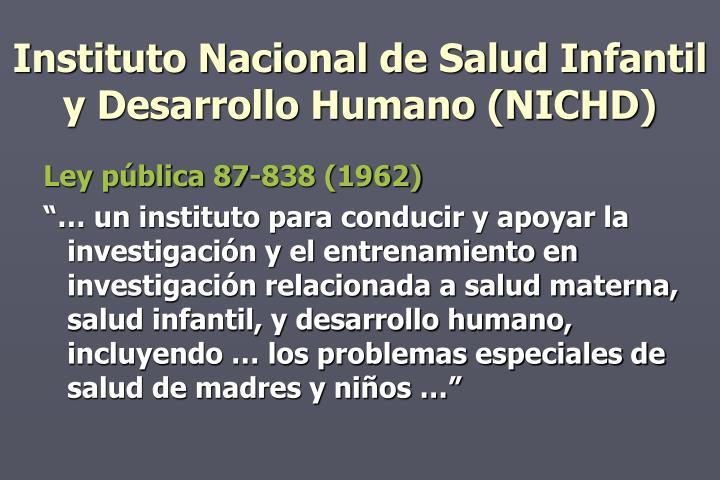 Instituto Nacional de Salud Infantil y Desarrollo Humano (NICHD)