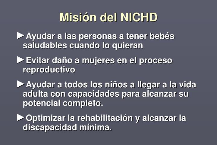 Misión del NICHD