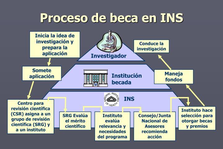 Proceso de beca en INS