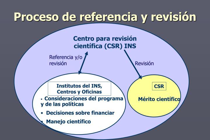 Proceso de referencia y revisión