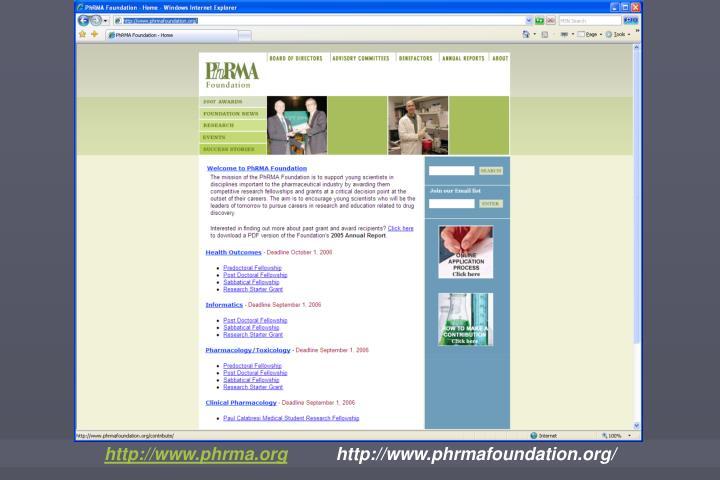 http://www.phrma.org