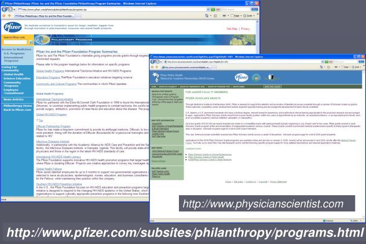 http://www.physicianscientist.com