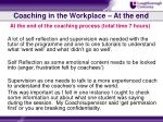 coaching in the workplace at the end