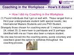 coaching in the workplace how s it done