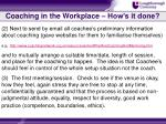 coaching in the workplace how s it done1