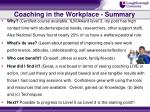 coaching in the workplace summary