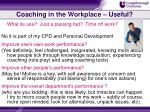 coaching in the workplace useful