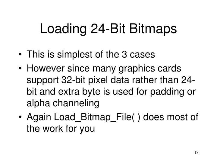 Loading 24-Bit Bitmaps
